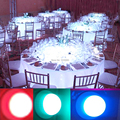 DHL Frete Grátis 10 pcs Recarregável Portátil Debaixo Da Mesa Mesa de Luz Com Um Controlador Remoto RF Para Eventos de Casamento de Iluminação