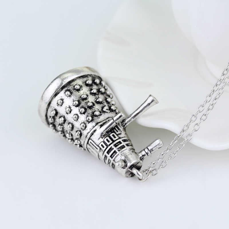 MQCHUN série TV bijoux Dr Who collier Dr étrange Dalek Robot pendentif collier pour femmes hommes tour de cou cadeau accessoires