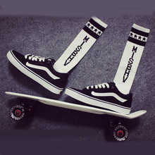 MISBHV Striped Long Skateboard Cotton Sock  Retro Lovers Street Tide Knee high Baseball Team Socks