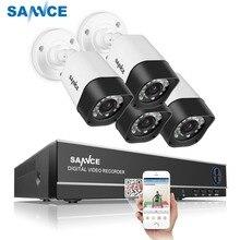 SANNCE 4CH безопасности камера системы дома товары теле и видеонаблюдения комплект 1080 P HDMI выход DVR 720 комплект видеорегистратора скрытого наблюдения 720 4 шт. 1.0MP