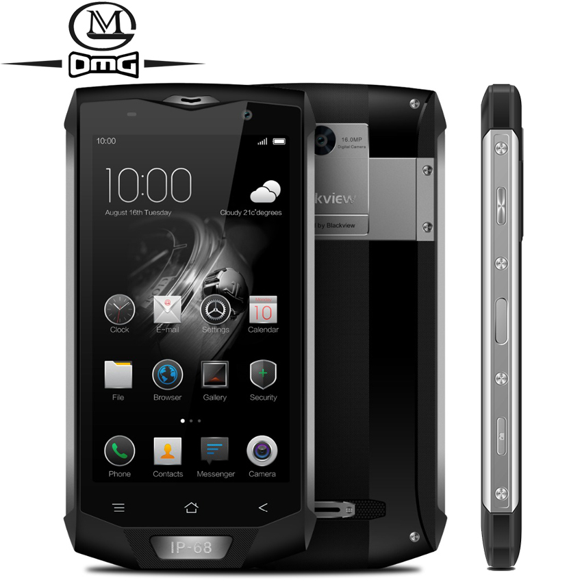 Blackview BV8000 Pro IP68 Étanche Antichoc Mobile Téléphone 5.0 MTK6757V Octa base Android 7.0 6 gb RAM 64 gb ROM 4g Smartphone