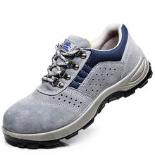 new fashion safety shoes steel toe and sole for men anti-smashing work boots work shoes  safety bot цены