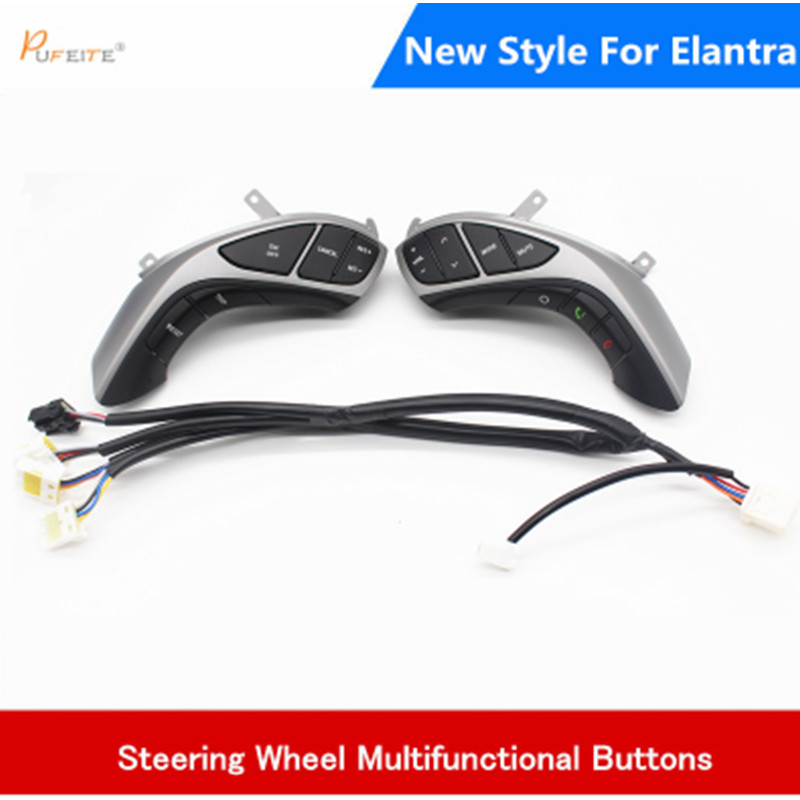 For Hyundai Elantra 2012 I30 2015 Multifunction Steering wheel button Audio and cruise control button Car steering wheel