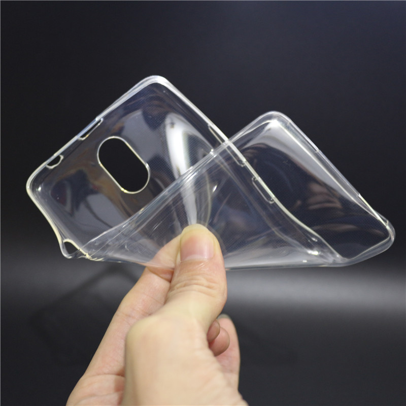 Thin Soft Silicone Clear TPU Capas Cases For Lenovo Vibe