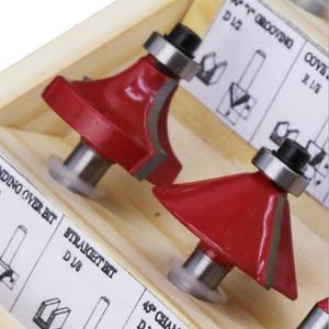 Image 3 - 15 Stks/set Houtbewerking Frezen 1/4 Schacht Carbide Router Bit Voor Hout Cutter Graveren Snijgereedschap
