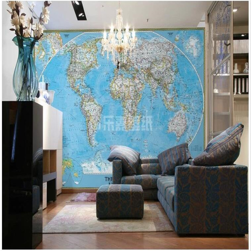 Custom photo wall paper World Map Modern English TV background wall paper for living room study 3d large wall mural wallpaper custom 3d photo wallpaper mural nordic cartoon animals forests 3d background murals wall paper for chirdlen s room wall paper