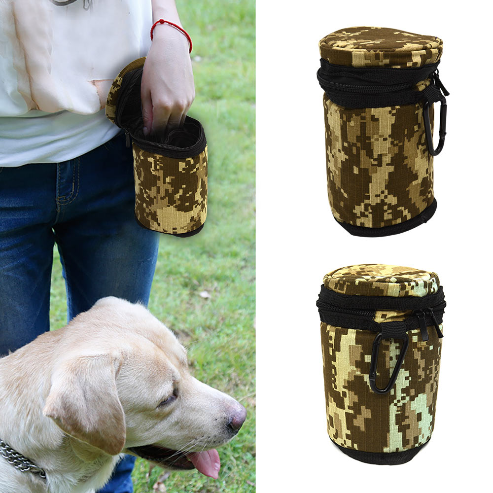 Portable Dog Feeding Training Bag Pet Pu