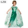 2017 Verano Vestido de Partido de la Historieta Vestido Anna Elsa Carnaval Cosplay Traje de Vestir Para Niños Niñas Vestido de la Princesa Ropa de Los Niños