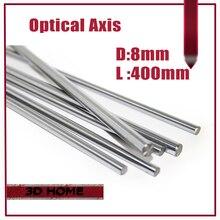 Высокое Качество 1 шт. OD 8 мм х 400 мм Гильза Цилиндра Рельса линейные Вал Оптической Оси chrome Для 3D Принтер Аксессуары для CNC