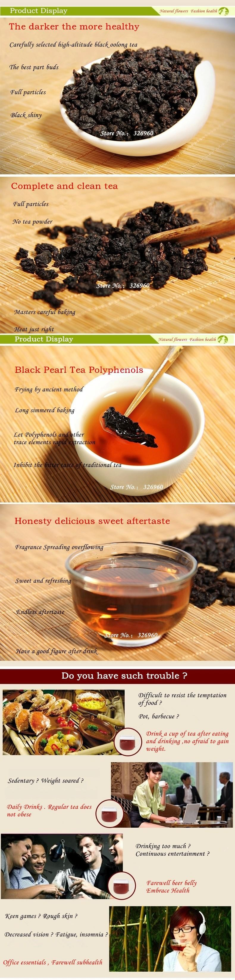 High Quality Chinese Oil Cut Black Oolong Tea Fresh Natural Slimming Tea High Cost-effective Weight Loss Tea 50g