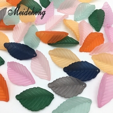 30pc/bag 31mm Frosted Flower Space Transparent Leaf Beads Jewelry Making Design Bracelet Necklace Collocation Accessory Material fishtail design bag accessory