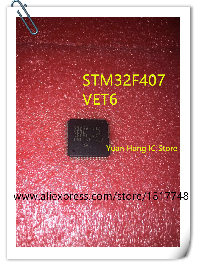 2PCS STM32F407VET6 STM32F407 VET6 LQFP-100  IC New and in stock tms320f28335 tms320f28335ptpq lqfp 176