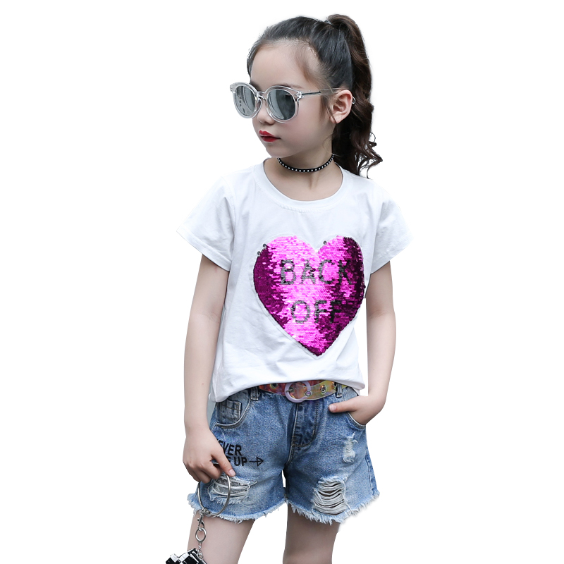 Baby Girls Clothing Set 2018 Infant Clothes Toddler Summer Girls Clothes Sets Cotton Outfits White T-shirts + Denim Shorts Jeans zengli mens denim cargo shorts jeans casual vintage blue pockets biker jeans summer knee length denim shorts 40 42 44 46 48