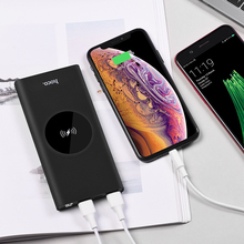 10000mAh QI Wireless Charger Power Bank Dual USB