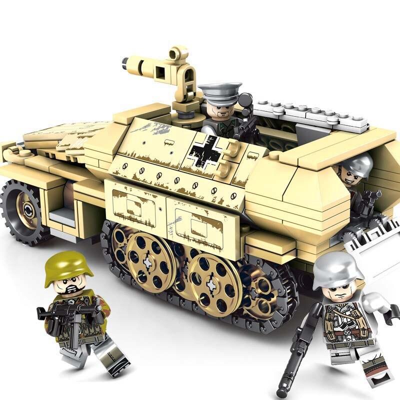 Half track light Armored Car Compatible Legoness SD.KFZ.251 355pcs Building Blocks Toys For Kids Boys Gifts Fit WW2 GermanyHalf track light Armored Car Compatible Legoness SD.KFZ.251 355pcs Building Blocks Toys For Kids Boys Gifts Fit WW2 Germany
