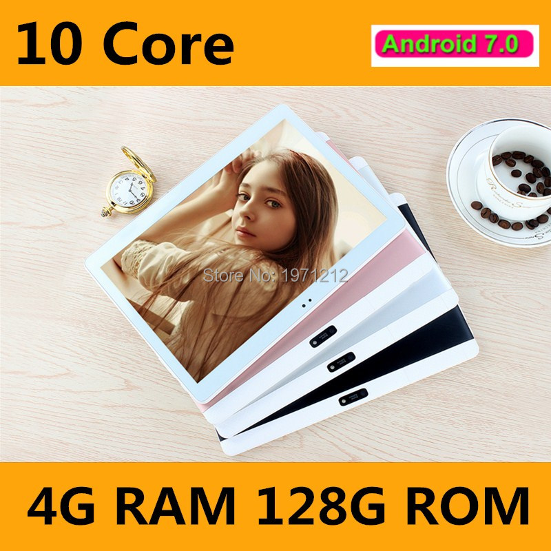2019 New 10 Inch 4G LTE Tablets Deca Core Android 7.0 RAM 4GB ROM 64GB Dual SIM Cards 1920*1200 IPS HD 10.1 Inch Tablet PCs+Gifs