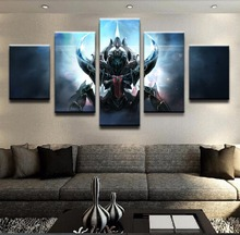 Home Decor Living Room Modular Poster Frame Pictures 5 Panel DOTA 2 Nyx Assassin HD Printed Modern Canvas Painting Wall Art