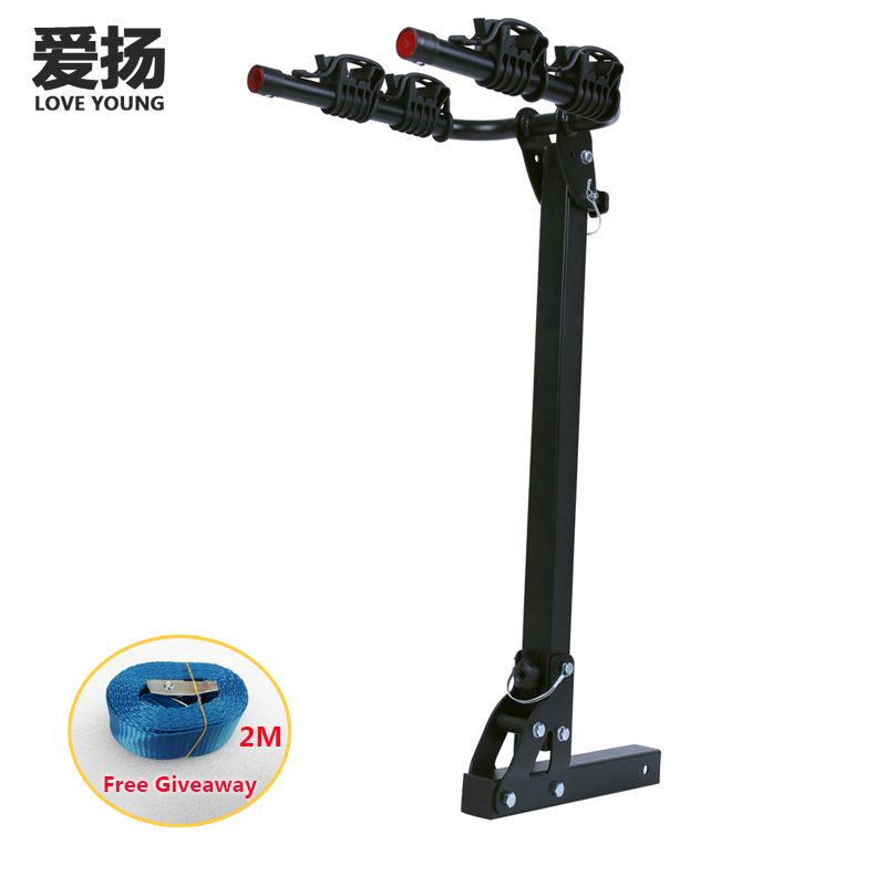 Car rear trailer square tube/2 receiver bicycle carrier/rear hitch mount bike rack load 2-4 bikes