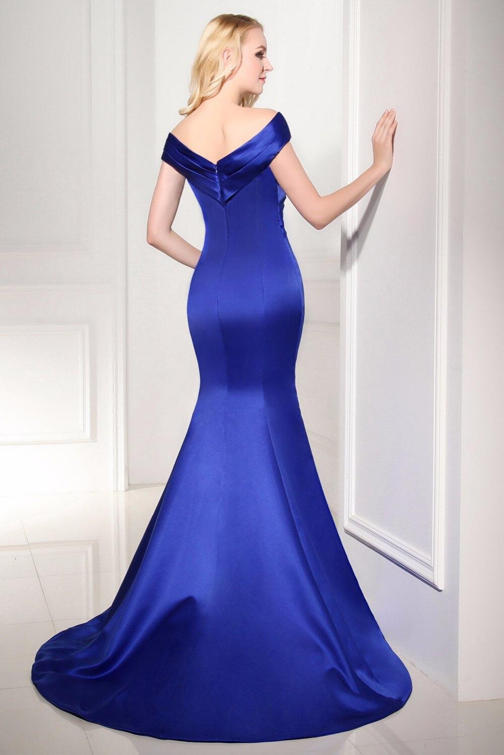 Robe De Soiree Hot Jual Abendkleider Avondjurk Panjang Gaun V-leher - Gaun acara khas - Foto 2