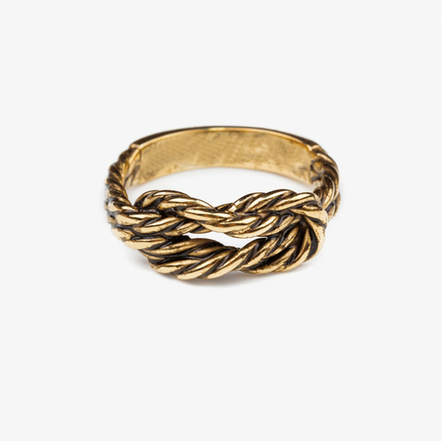 Wire Ring Designs | Brand Design Antique Sailor Knot Ring Simple Metal Braver Midi Ring