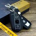 Брелок ключа автомобиля чехол для bmw 2 кнопки 1/3/5/7X5 2015 2016 ключа автомобиля случае Натуральной Кожи брелок дистанционного крышка держатель