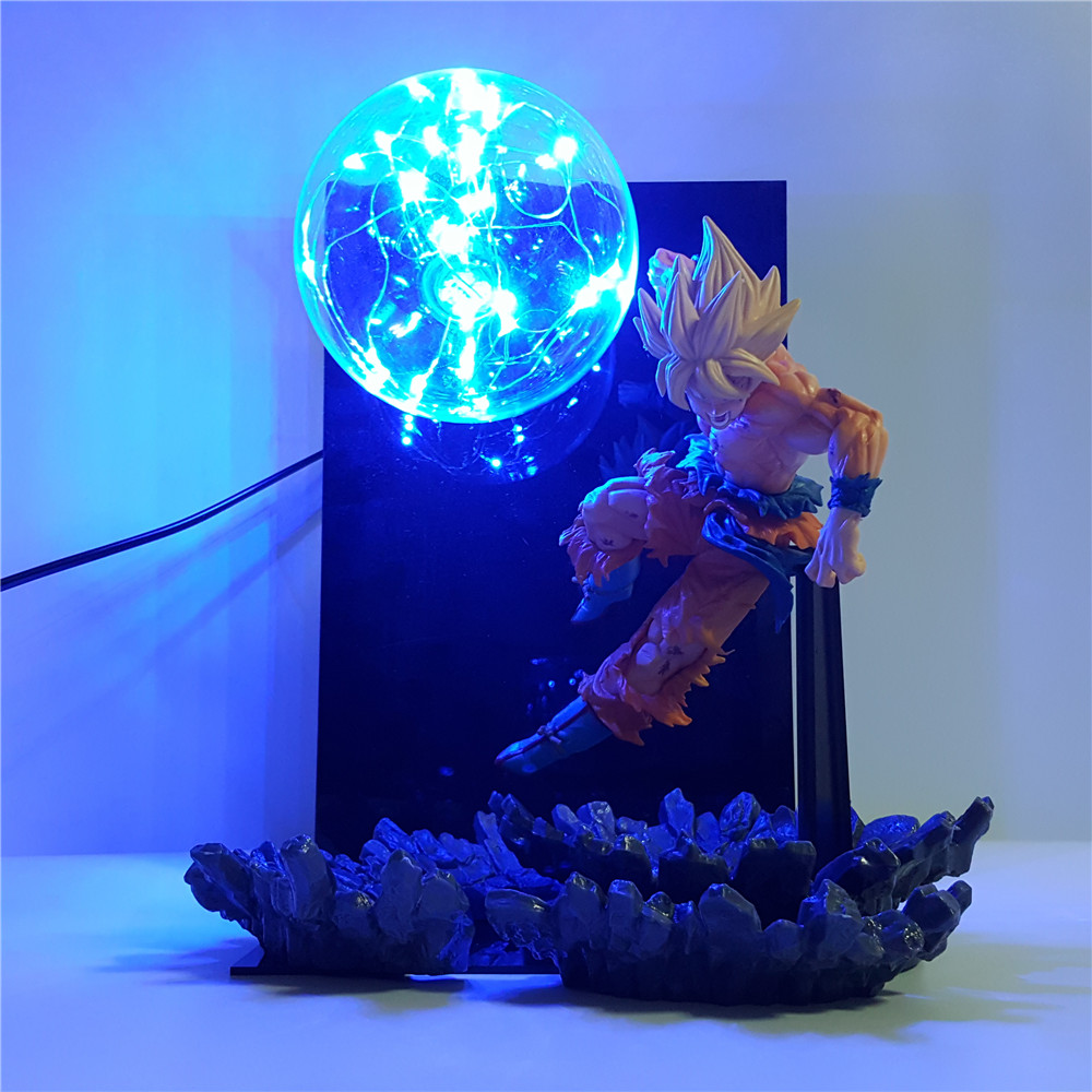 Dragon Ball Z Goku Super Saiyan 2 Led Night Light Dragon Ball Super Son Goku Lighting Lamp Bulb Room Decoration Lamp Decor Lampe