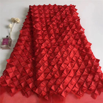 Most popular red tulle mesh material French net lace fabric for wedding dress PNZ698(5yards/lot) free shipping