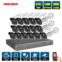 16CH CCTV System 16PCS 5.0MP Outdoor Weatherproof Security Camera 16CH 5MP NVR Night Vision Video Surveillance System