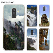 Transparent Soft Silicone Phone Case Mountain Landscape For Samsung Galaxy A6 A6+ A8 Star A8+ A7 A5 A3 Plus 2018 2016