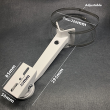 Alumínio cctv suporte da câmera ajustável cilíndrico pólo hoop suporte ângulo direito exterior parede canto acessórios cctv