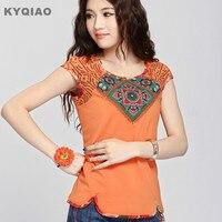 2015 Mexican Style Ethnic Hippie Blouse Summer Spring Autumn Short Sleeve Boho T Shirt Retro Vintage