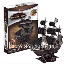 The Queen Anne's Revenge CubicFun 3D educational puzzle Paper & EPS Model Papercraft Home Adornment for christmas gift