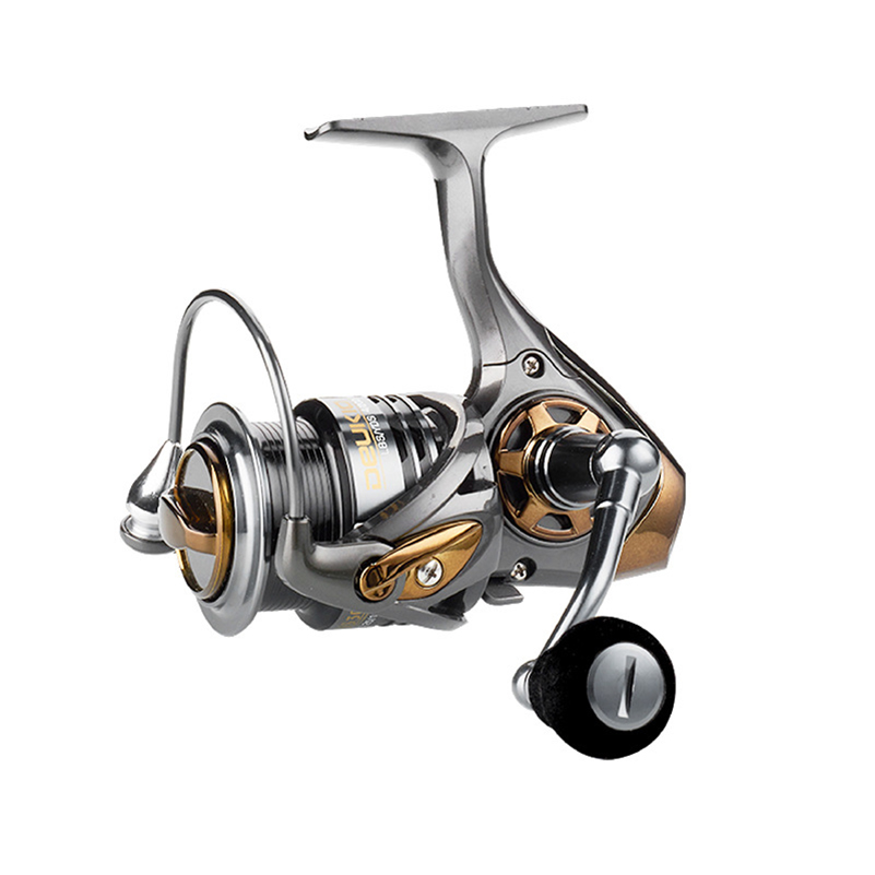YUYU quality Metal Fishing reel spinning metal shallow spool 2000 3000 5000 6+1BB 7.1:1 spinning reel for carp fishing-in Fishing Reels from Sports & Entertainment