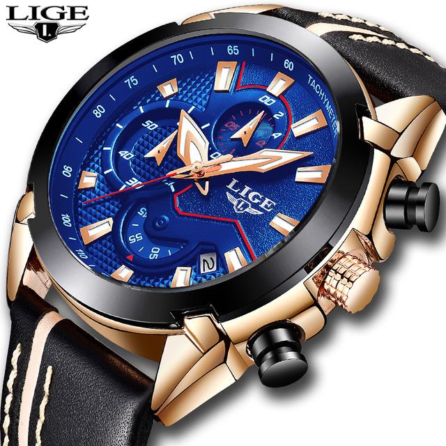 2018 новый бренд lige часы для мужчин Топ Роскошные автоматические механические часы для мужчин нержавеющая сталь Часы Бизнес часы Relogio Masculino