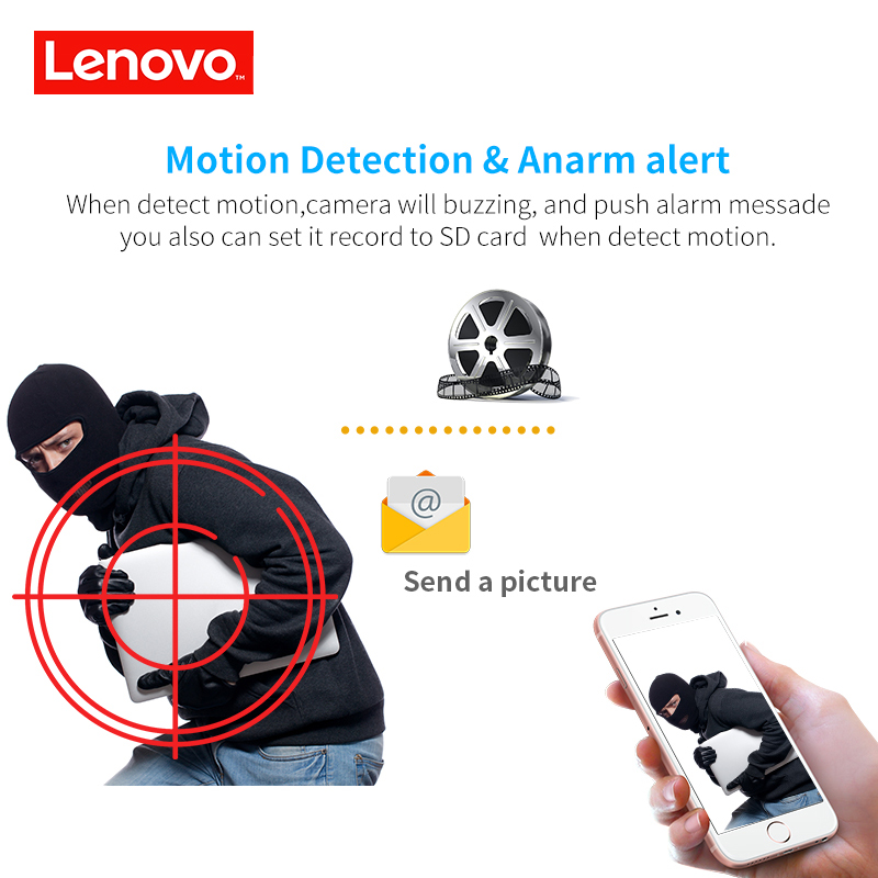 Image 4 - LENOVO Outdoor Waterproof IP 1080P Camera Wifi Wireless Surveillance Camera Built in 32G Memory Card CCTV Camera Night Vision-in Surveillance Cameras from Security & Protection