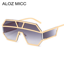 ALOZ MICC Women Oversized Rimless Sunglasses Men Brand 2019 Fashion Metal Sun Glasses Shield Vintage Goggles UV400 Q672