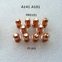 Non Original Trafimet A141 A101 Air Plasma Cutting Torch Cutter Consumables Kit Electrode PR0101 20pcs
