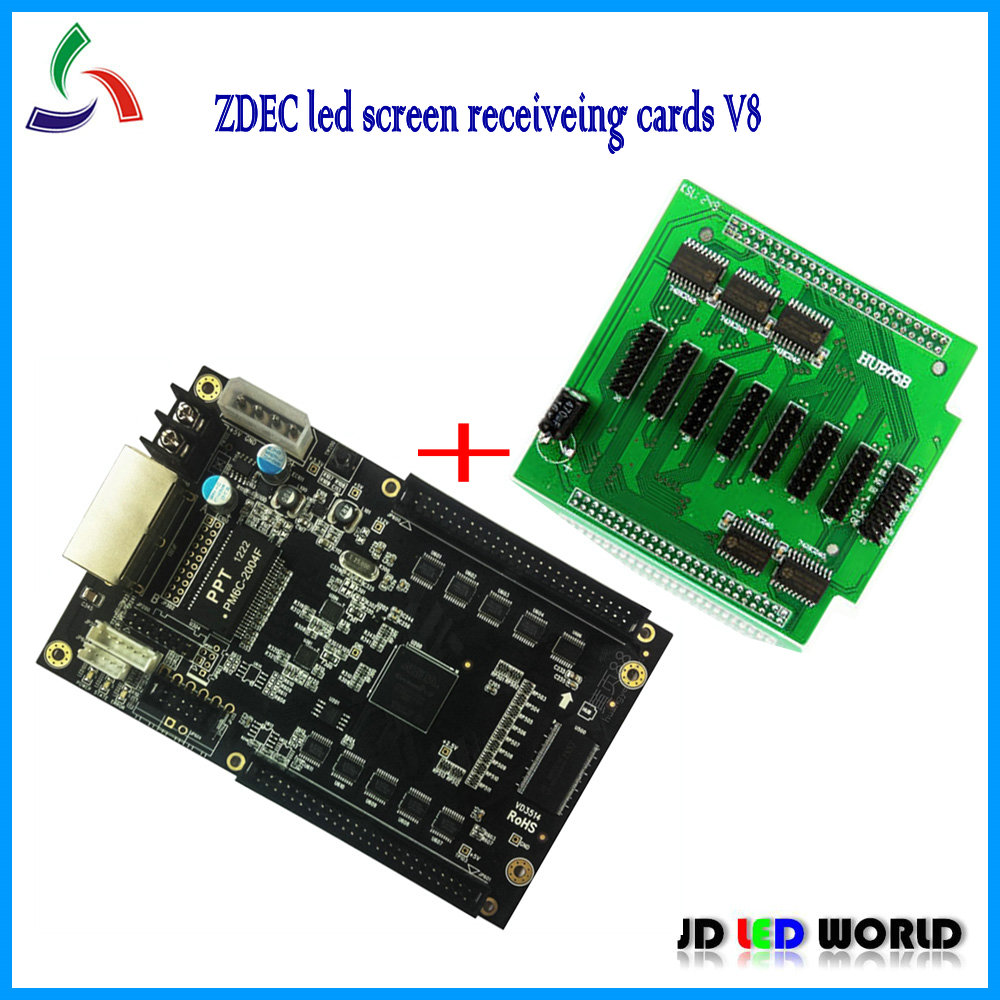 ZDEC led screen receiveing cards V8 new version