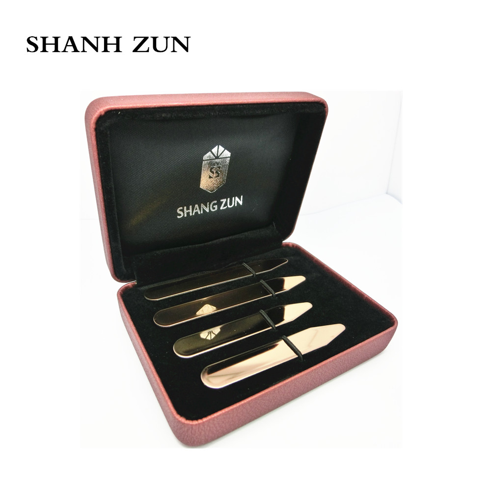 SHANH ZUN Fathers Day Custom Collar Stays for Dad Father Daddy, Kids Names Personalized, Personalized Collar Stays