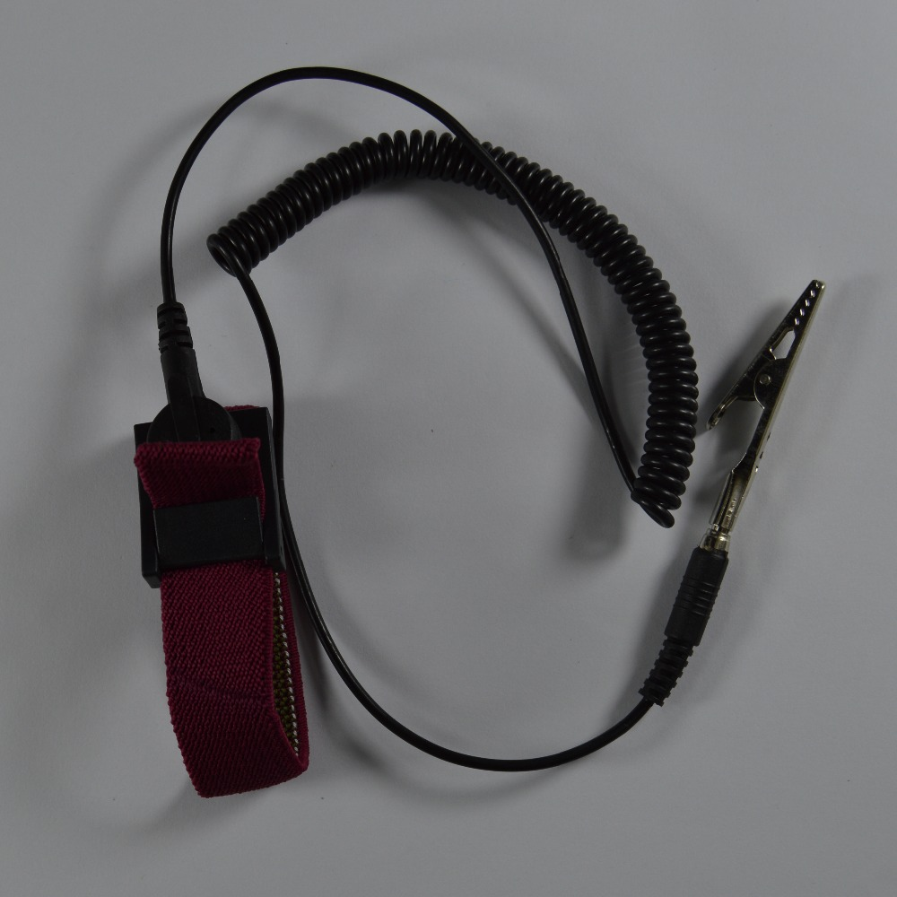 PU Cordless wireless Clip Antistatic Wristband Esd Wrist strap Discharge cables for Electrician IC PLCC worker color red цена
