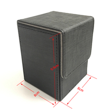Black Color Top loading and Side loading Small Size Deck Box Top Open Deck Case For Magic Board Game Cards: Black Color