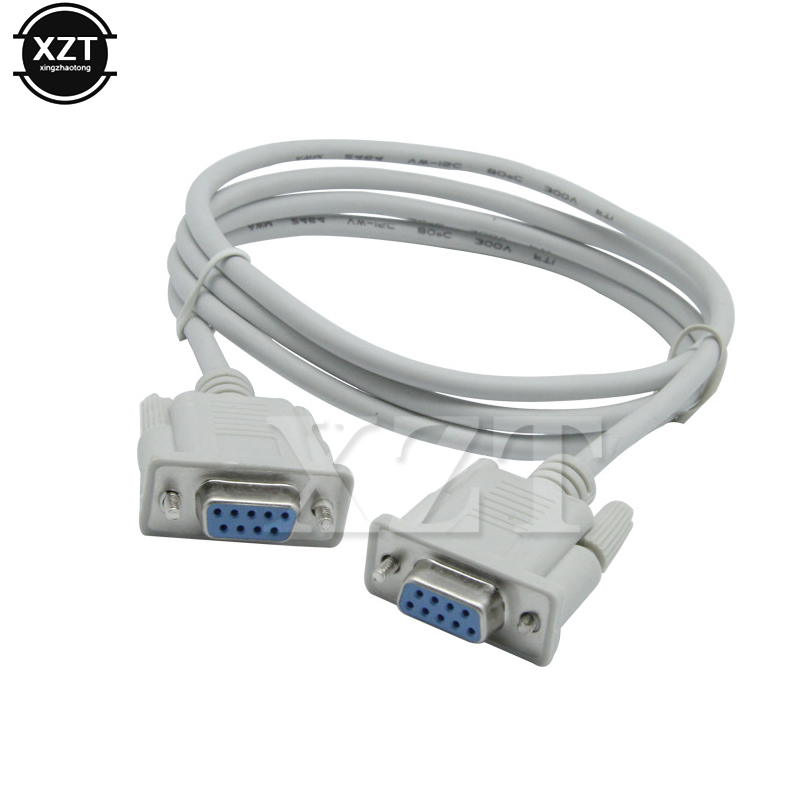 KENTEK Mini DB9 Male to Female M//F Serial//at Null Modem Mini Adapter Gender Changer Coupler RS-232 Crossover Data Transfer