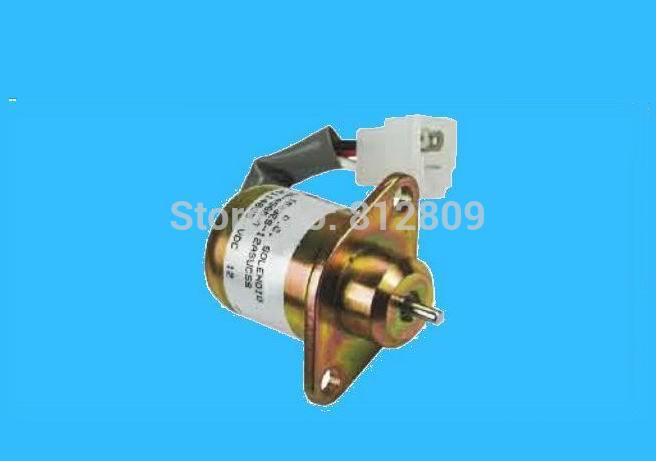 free shipping Fuel shutoff solenoid for CAT 246 skid steer for Perkins 2848A278 stop solenoid 3pc fuel stop solenoid u85206452 for perkins 400 series engines 12v fast free shipping