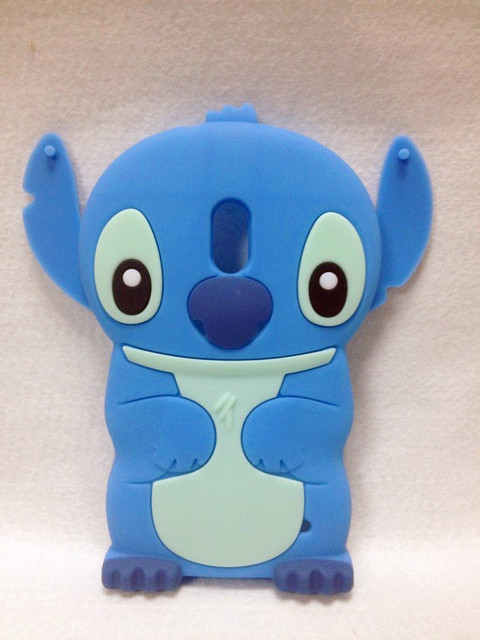 Lovely Stitch 3D Silicone Case For .Nokia 620 Lumia 620  High Quality Cell Phone Case Silicone