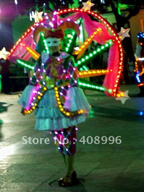 LED luminous dress for performance/Carnival dress/Light-up costumes/Amusement park series 04