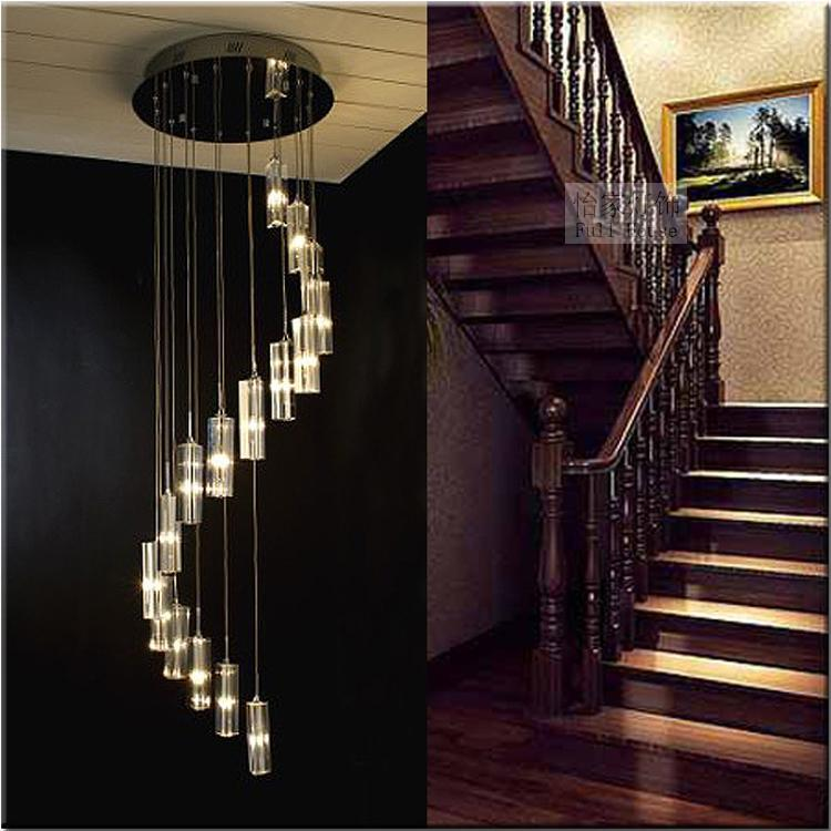 Modern chandeliers crystal lighting stair long hanging lamp modern chandeliers crystal lighting stair long hanging lamp pendant lamps home decorative lustre luminiare light fixtures in chandeliers from lights aloadofball Choice Image