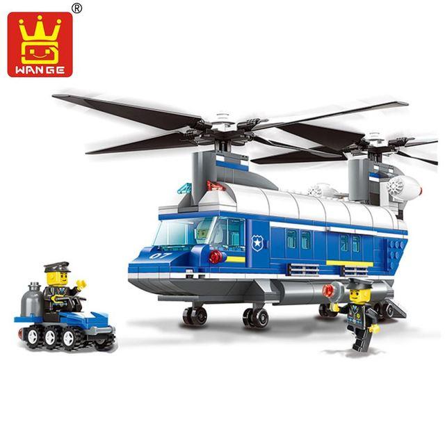 Enlighten building blocks diy tijolos brinquedos helicóptero carro veículo de transporte pesado escala 3d série polícia modelo brinquedos de presente