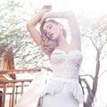 Кружева Русалка Свадебные Платья Sexy Мода 2017 Новый Милая Декольте Невесты Платье Баски Белый Шифон Свадебные Платья с Sash