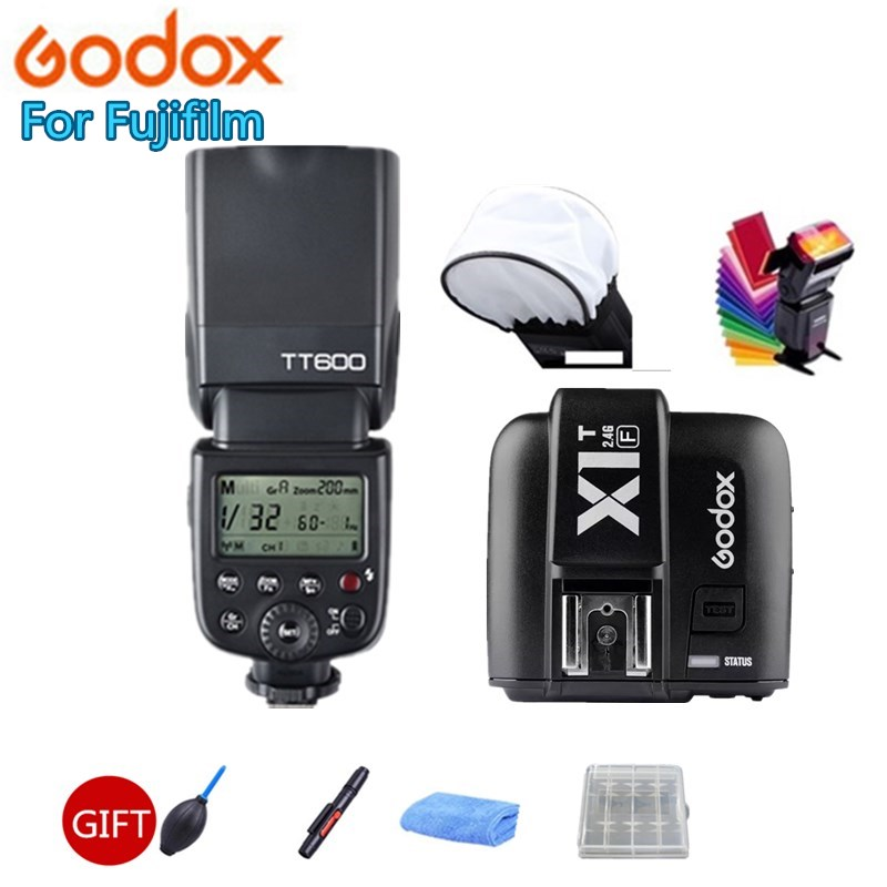 Godox TT600 GN60 HSS 1/8000s Camera Flash Speedlite + 2.4G Wireless X System X1T-F Transmitter For Fujifilm Fuji X-M1 X-A3 X-E2 цена