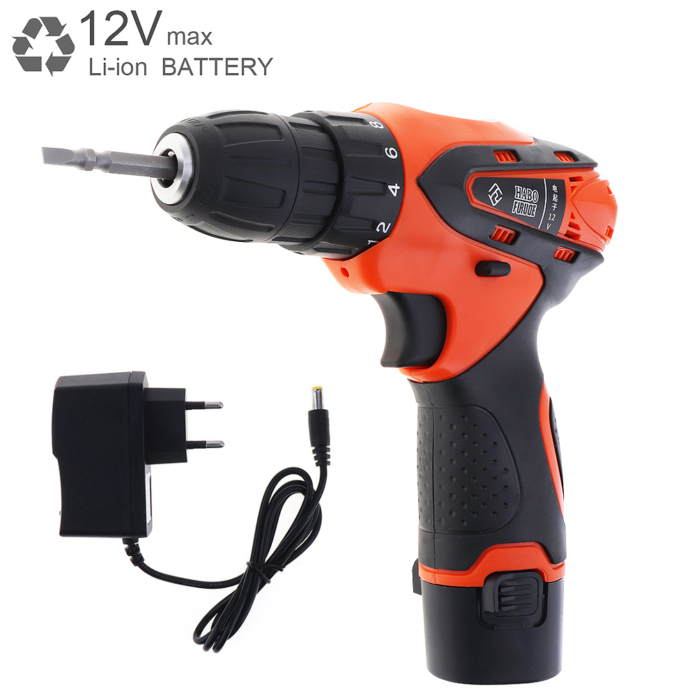 AC 100 - 240V Cordless 12V Max Electric Screwdriver Cordless Drill Mini Wireless Power Driver DC Lithium-Ion Battery desoon de12dc 12v max electric screwdriver cordless drill mini wireless power driver dc lithium ion battery 3 8 inch 2 speed